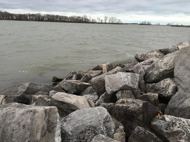Lake Erie at the Shelby Street Public Boat Launch.