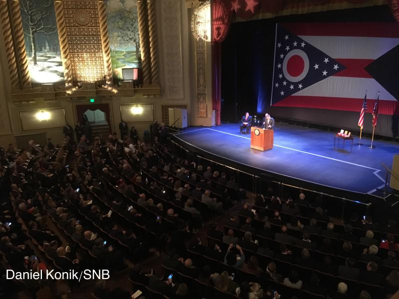 Gov. John Kasich delivers his seventh State of the State speech in Sandusky on April 4, 2017.