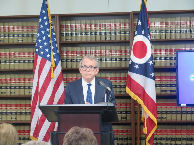 Attorney General Mike DeWine announces lawsuit on May 31, 2017