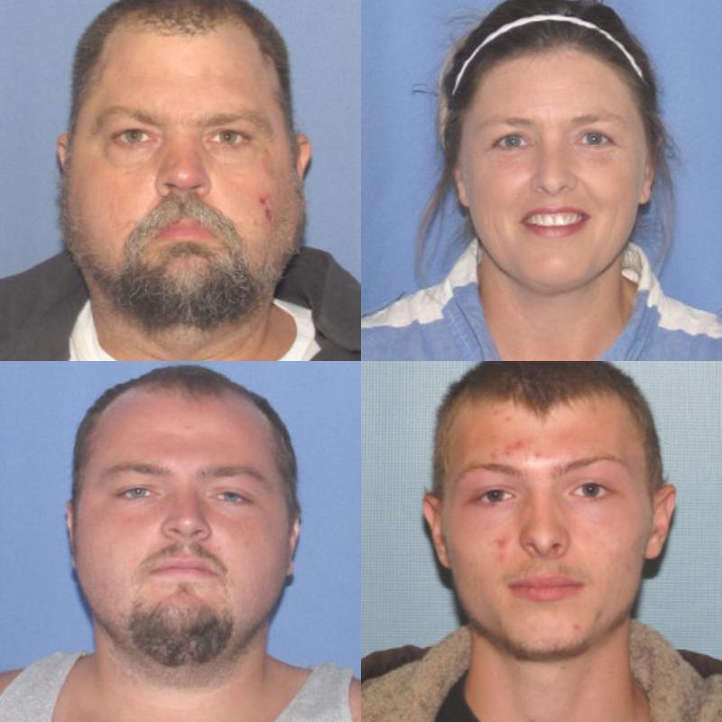 "(Top Left - George ""Billy"" Wagner III, Top Right - Angela Wagner, Bottom Left – George Wagner IV, Bottom Right – Edward ""Jake"" Wagner"