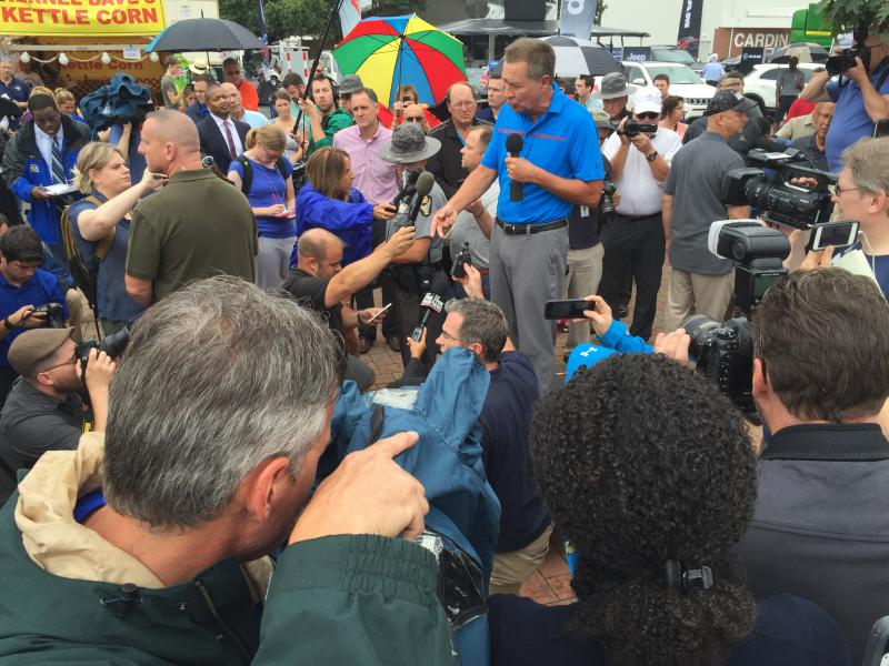 Gov. John Kasich addresses questions about Ohio State Fair ride incident.