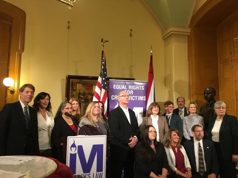 "Backers of ""Marsy's Law"" at Ohio Statehouse"