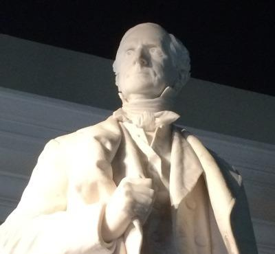 The statue of Gov. William Allen (1874-1876) is on display at the Ross County Historical Society.