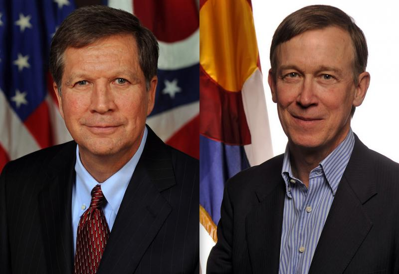 Gov. John Kasich (R-OH) and Gov. John Hickenlooper (D-CO)