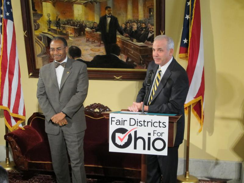 Reps. Vernon Sykes (D-Akron) and Matt Huffman (R-Lima) chaired the 2015 campaign for Issue 1 on Statehouse redistricting. Now in the Senate, Huffman is working on a Congressional redistricting plan he says will be similar.