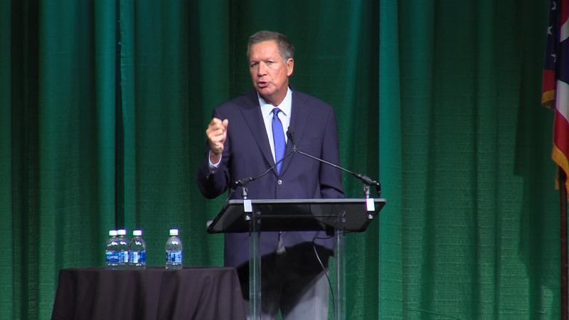 Gov. John Kasich speaking to the Ohio Transportation Engineers Conference in Columbus.