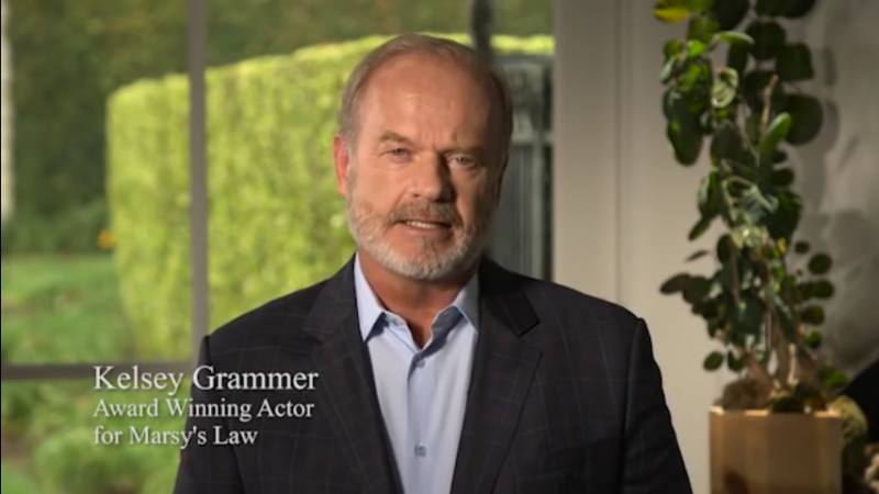 Actor Kelsey Grammer stars in a new 30-second ad supporting Issue 1, Marsy's Law.