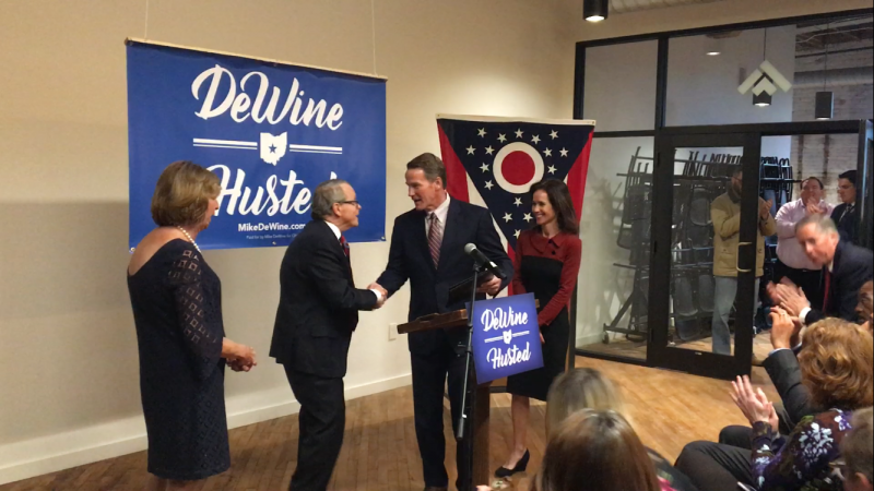 Attorney General Mike DeWine and Secretary of State Jon Husted