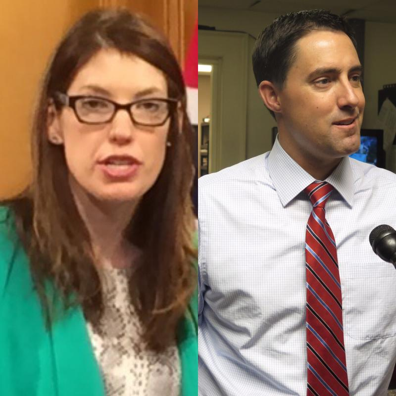 Left to Right - Democrat Kathleen Clyde and Republican Frank LaRose