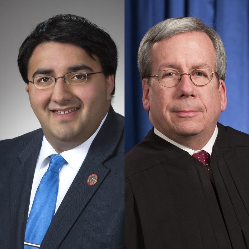 (left to right) Rep. Niraj Antani (R-Miamisburg) and Ohio Supreme Court Justice Bill O'Neill
