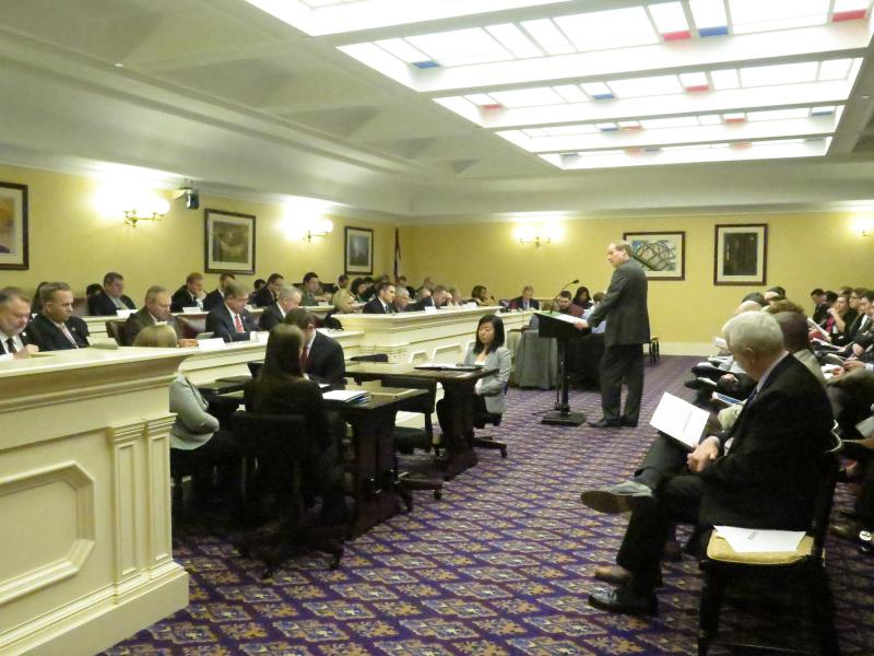 Office of Budget and Management Director Tim Keen addresses a House committee regarding the budget.