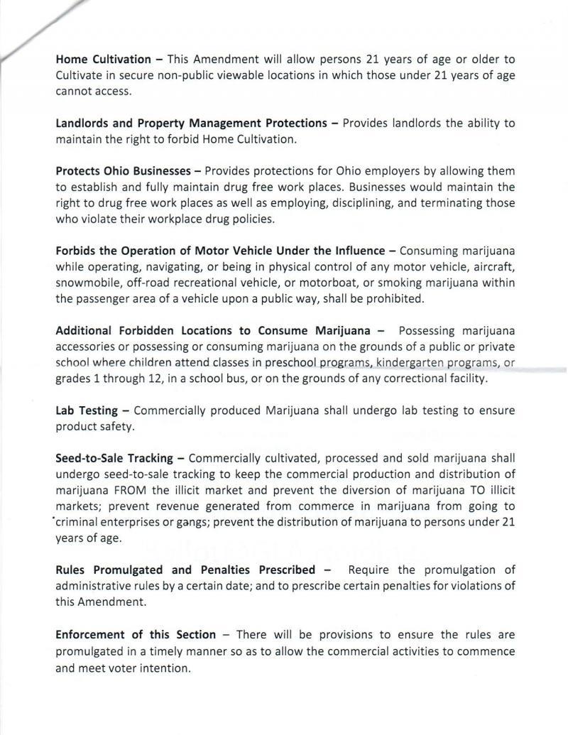 Second page of medical marijuana plan