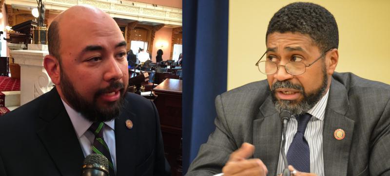 House Speaker Cliff Rosenberger (R-Clarksville) and Minority Leader Fred Strahorn (D-Dayton)