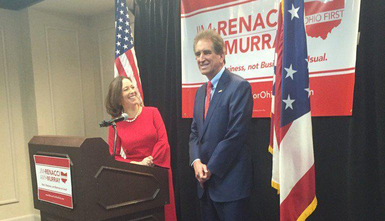 Cincinnati City Councilmember Amy Murray joins Congressman Jim Renacci for their first joint appearance as a team running for the Republican nomination as governor and lieutenant governor.