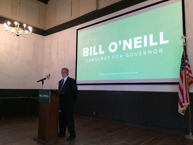 Bill O'Neill announced in October he intended to run for the Democratic nomination for governor.