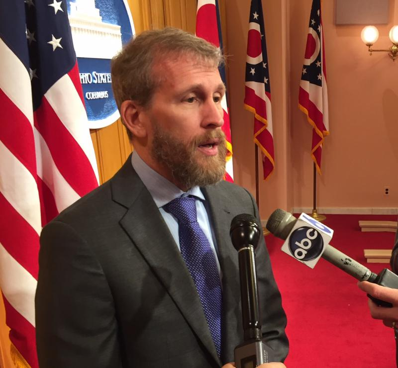Steve Wagner, executive director of the Universal Health Care Action Network talks about the new guidelines released by the Centers for Medicare and Medicaid Services at the Ohio Statehouse.