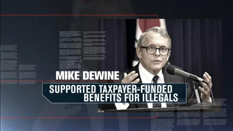 "A still from the Mary Taylor ad ""Voting"", which Mike DeWine's lawyer is asking TV stations to stop airing."