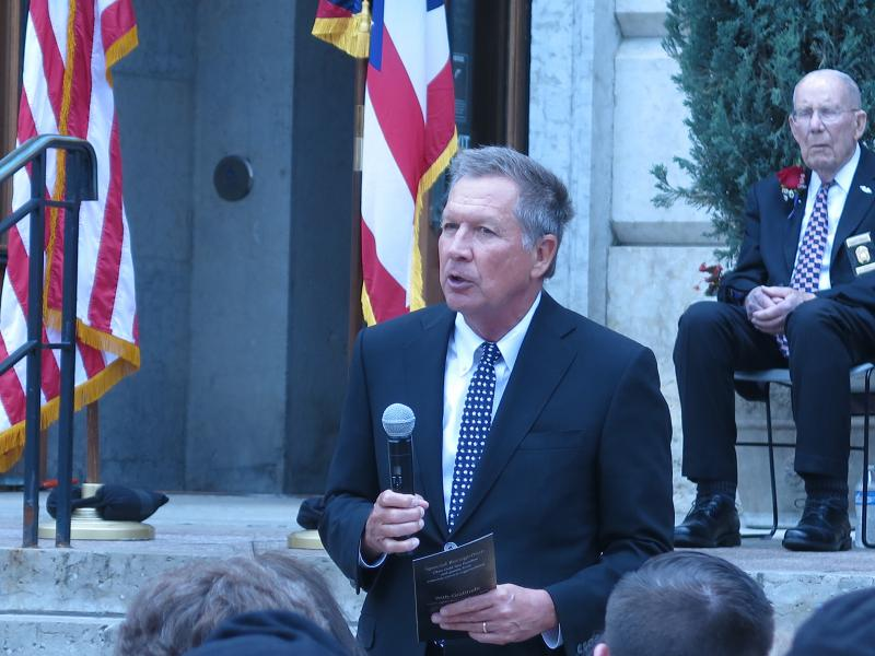 Gov. Kasich at ceremony