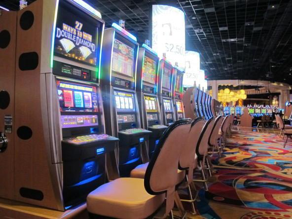 Slot machines at Hollywood Casino in Columbus