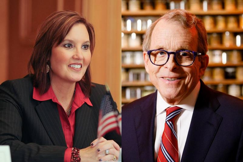 Lt. Gov. Mary Taylor (R-Ohio); Attorney General Mike DeWine (R-Ohio)