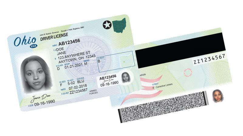 The new federally compliant Ohio driver's license, revealed in February, which drivers can choose to get if they bring additional documentation.