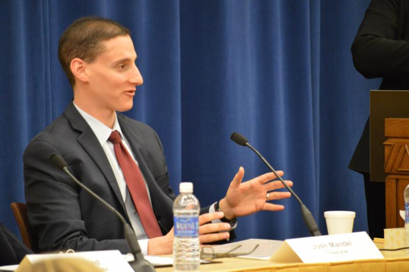 Josh Mandel at a forum for statewide officeholders sponsored by the Associated Press in 2016.
