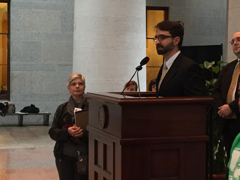 Stephen JohnsonGrove, supporter of Issue 1, is with the Ohio Justice and Policy Center.