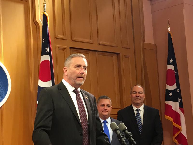L-R Ohio Auditor Dave Yost, Representative Shane Wilkin, Representative Bob Peterson