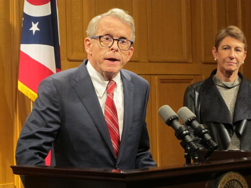 Ohio Governor-elect Mike DeWine holds first press conference following his gubernatorial win to announce first staff positions.