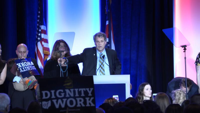 U.S. Sen. Sherrod Brown speaks after his victory last month