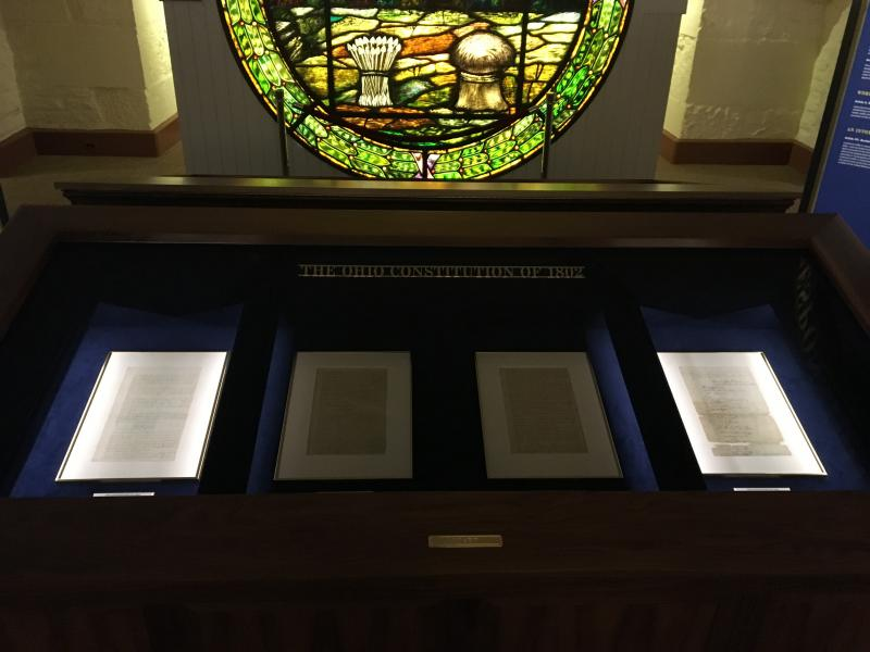 Ohio's 1802 and 1851 constitutions are now on display at the Statehouse.