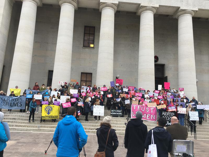 Rally against Heartbeat Bill at Ohio Statehouse