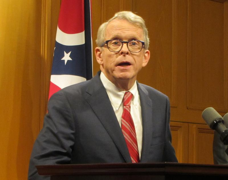 Gov.-elect Mike DeWine speaks at an event announcing some of his cabinet members in November.
