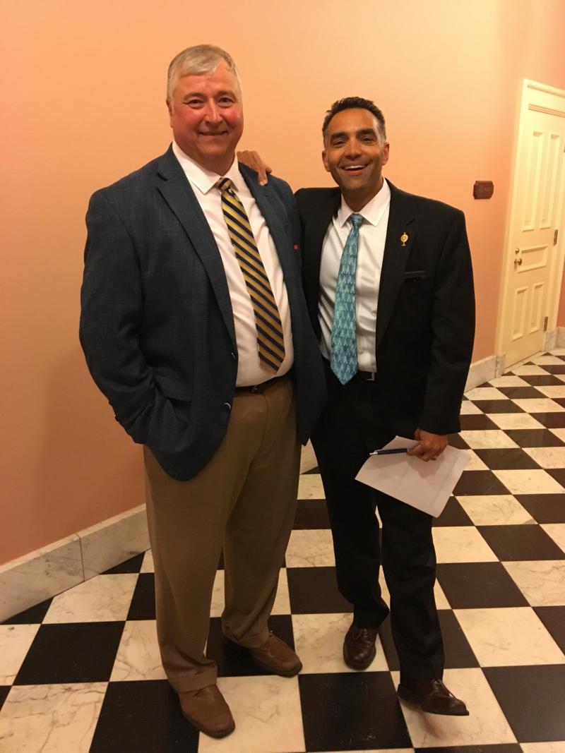 Rep. Nino Vitale (R-Urbana, right) was an early supporter of Larry Householder for Speaker.