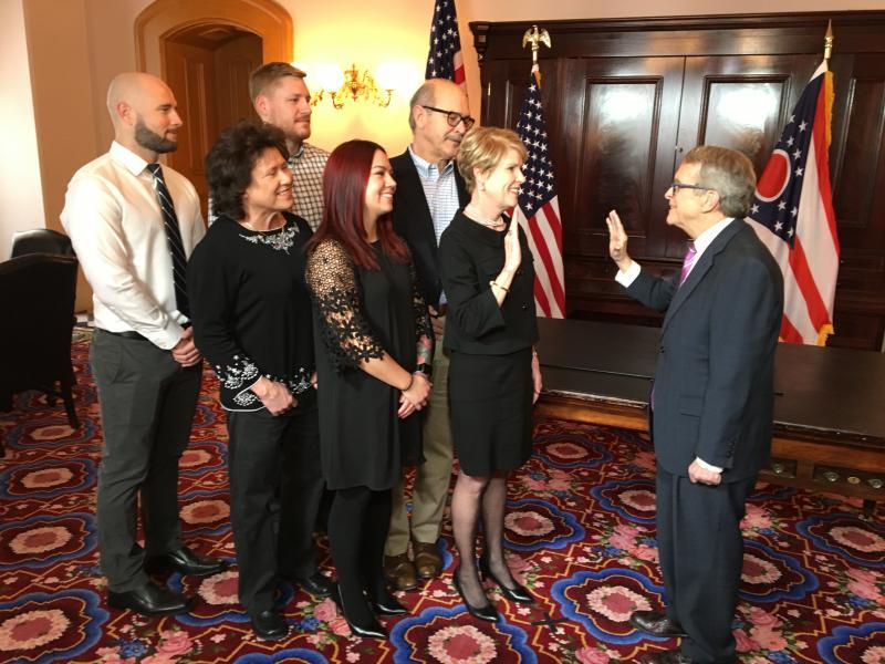 Ohio Agriculture Director Dorothy Pelanda being sworn into office