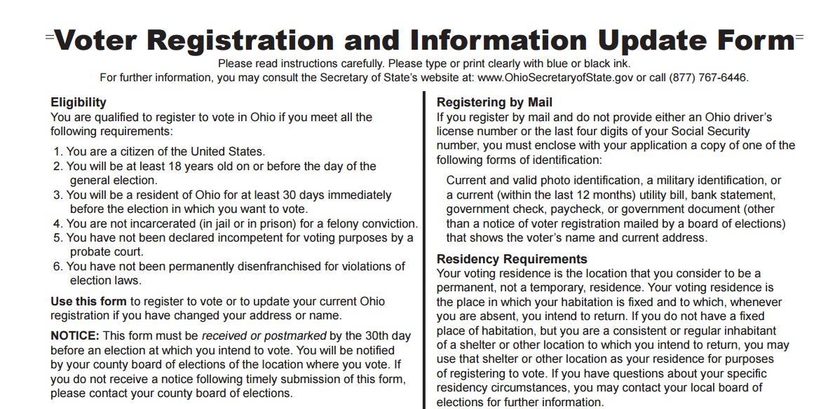 Voter Registration Deadline For Ohio's Presidential Primary Looms ...