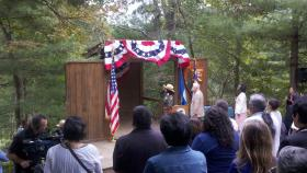 Citizenship swearing in ceremony at the Carl Sandburg Home NHS