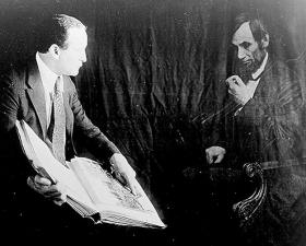 """""""Houdini and the ghost of Abraham Lincoln,"""" ca. 1920"""