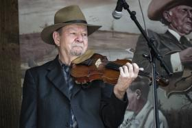 Legendary fiddler Bobby Hicks performs live in the WCQS studios, October 13th on Country Roots.