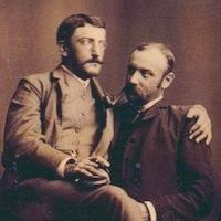 Affectionate Valentine couple, c1890.