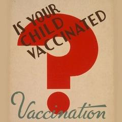 Detail from Chicago Department of Health vaccination poster, produced by the Works Progress Administration, late 1930s