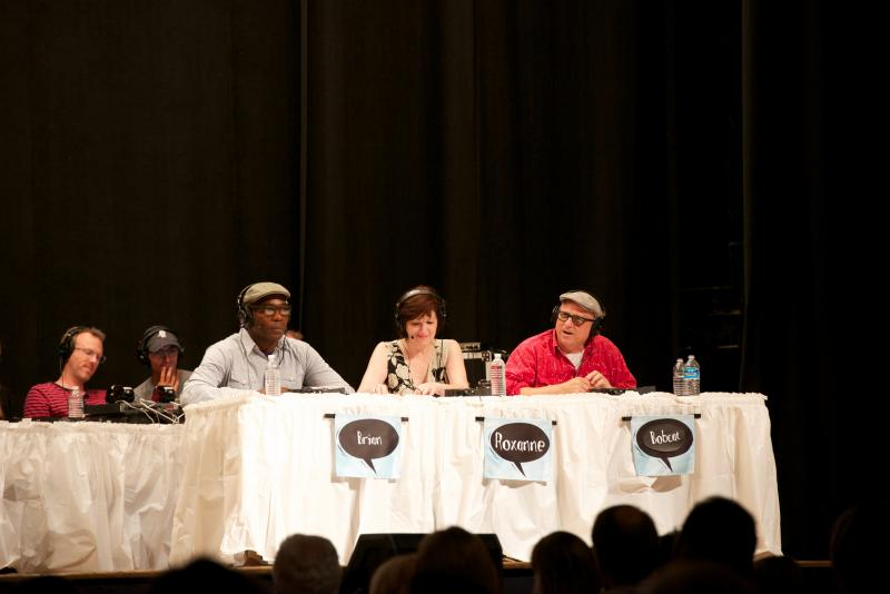 Panelists Brian Babylon, Roxanne Roberts and Bobcat Goldthwait
