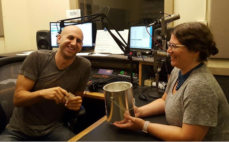 Morning Edition host Jeremy Loeb and Memebership Associate Jodi John Pippin choose the Early Bird winner at random. What a fun way to start the day!