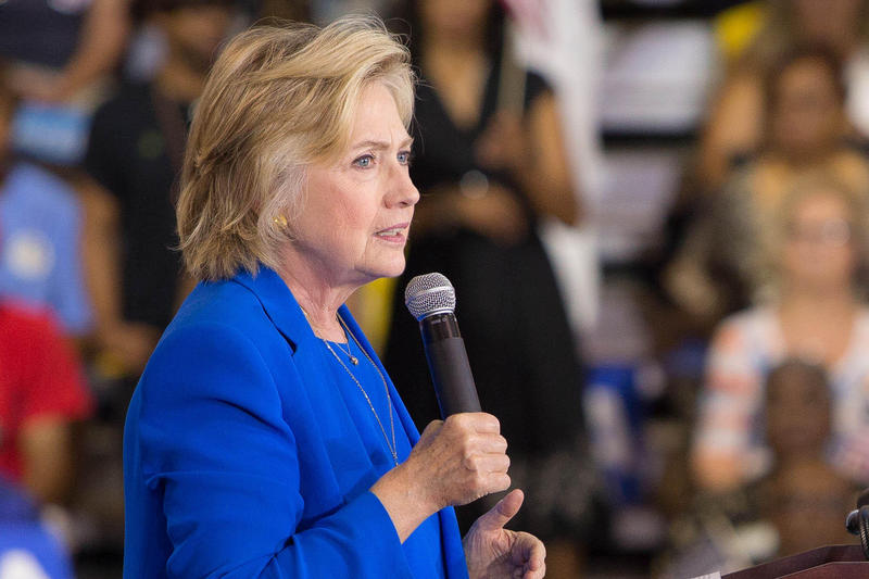 Hillary Clinton spoke at Johnson C. Smith University in Charlotte Thursday.