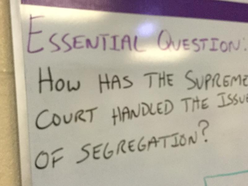 Food for thought on the board in Mr. Pope's Civics and Economics class