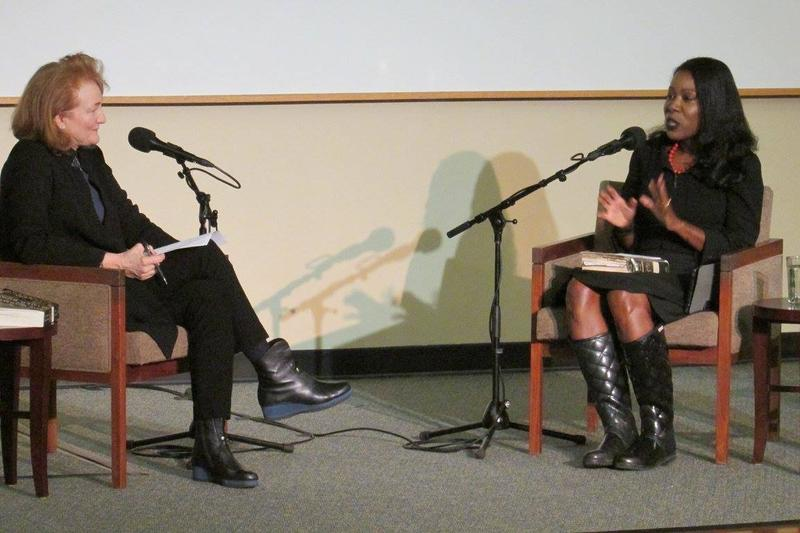 Krista Tippett and Isabel Wilkerson at UNCA's Faith In Literature Festival last month.