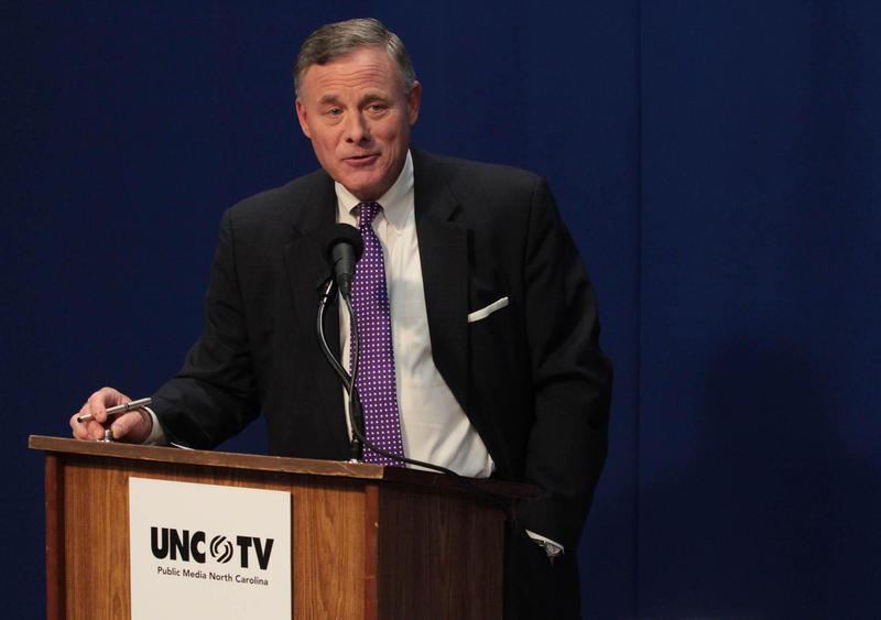 U.S. Senator Richard Burr, at a debate last month.
