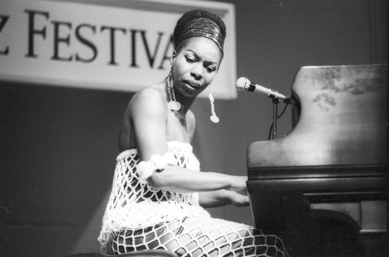 Nina Simone performs at the Newport Jazz festival in 1967