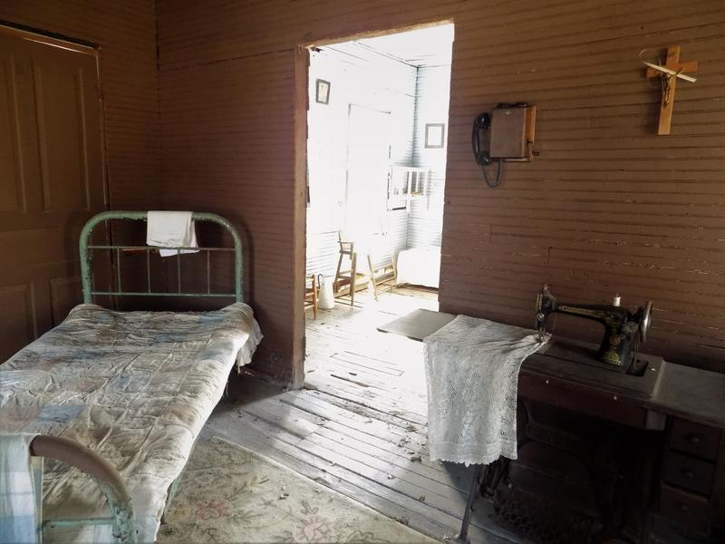 Inside the Waymon's three-room house. A previous owner added period 1930s artifacts.