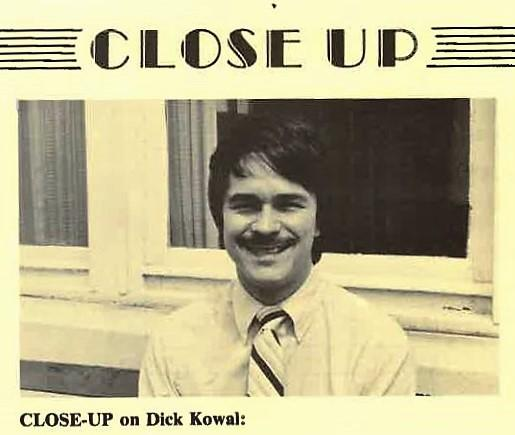 1987, This picture was part of a profile of WCQS's new music director, Dick Kowal, featured in the station newsletter Quarter Notes.